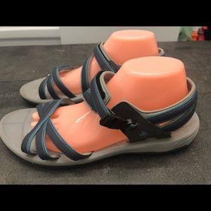 Northside Women's Black/Blue Sport Sandals Size 10